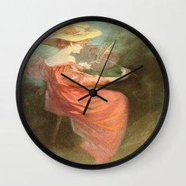 Vintage poster - La Peinture Wall Clock