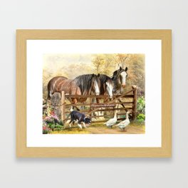 Featherwell Farm Framed Art Print