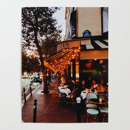 Paris in the evening Poster