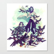 The Blue Wind Canvas Print