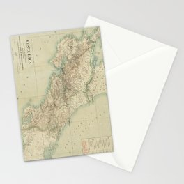 Vintage Map of Costa Rica (1903) Stationery Cards