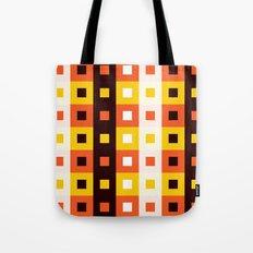 Stripes & Squares Tote Bag