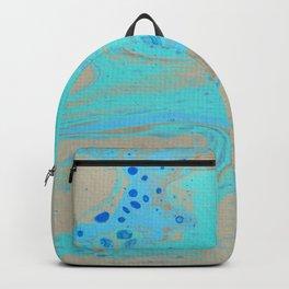 Dirty Acrylic Paint Pour 28, Fluid Art Reproduction Backpack