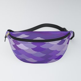 Ultra Violet wave, abstract simple background with japanese seigaiha circle pattern Fanny Pack