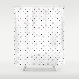 Pin Points Polka Dot Pink Shower Curtain