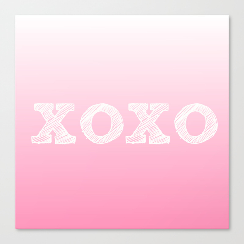 Valentine's Special Xoxo Canvas Print by Sree CNV945487