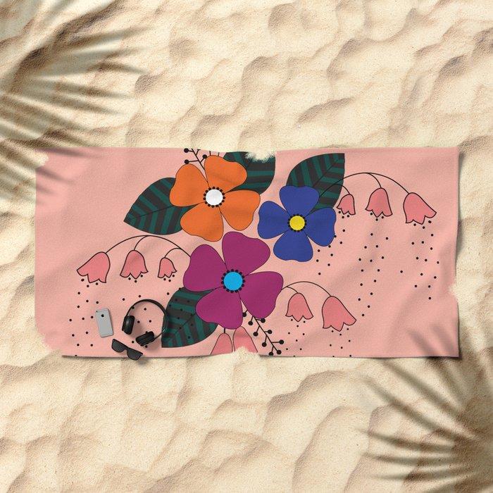 Flower..10 Beach Towel