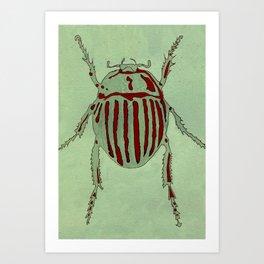 Bug Etching 2 Art Print