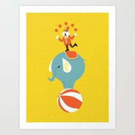 Circus Act Art Print