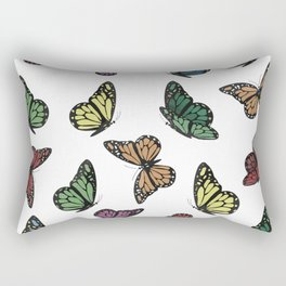 Multi Colored Butterfly Pattern Rectangular Pillow