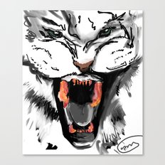 bacon teeth Canvas Print