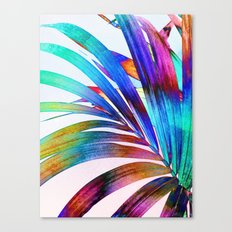 Multicolor Palm Leaf Canvas Print
