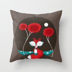 About a red fox Throw Pillow