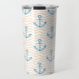 Anchors and waves Travel Mug
