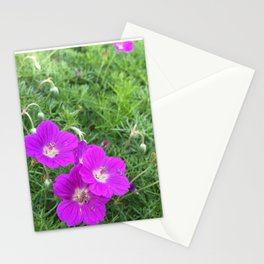 Purple-Pink Flowers Stationery Cards