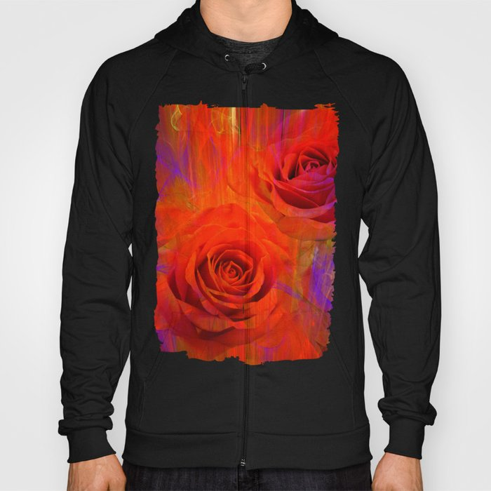 On fire with Roses Hoody