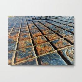 Orange Grooves 1 Metal Print
