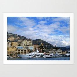 Monaco from the bateau bus Art Print