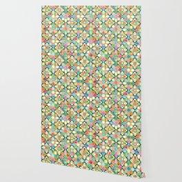 Gilded Moroccan Mosaic Tiles Wallpaper