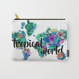 world map tropical vibes #world map #tropical Carry-All Pouch