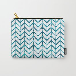 Watercolor Chevron Carry-All Pouch