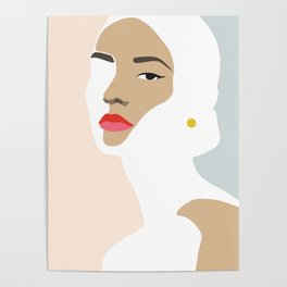 Woman with earring Nr/2 Poster