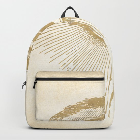 I See You. Vintage Gold Antique Paper Backpack