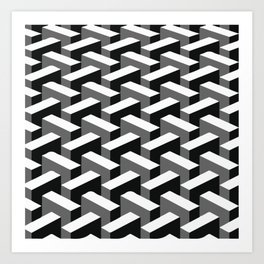 Escher pattern I Art Print
