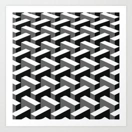 Escher pattern I Art Print
