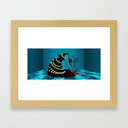 BLACK XMAS: Decorating the Christmas Tree Framed Art Print