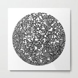 bowl of portraits Metal Print