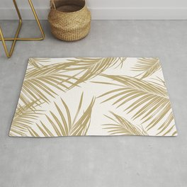 Gold Palm Leaves Dream #1 #tropical #decor #art #society6 Rug