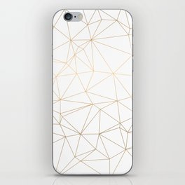 Geometric Gold Minimalist Design iPhone Skin