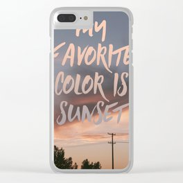 Favorite Color Clear iPhone Case