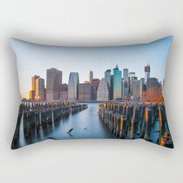 Sunset over Manhattan Rectangular Pillow