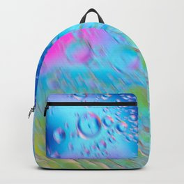 Oil drops in water in motion. Multicolored abstract defocused psychedelic pattern image with mooving boubbles . Abstract background with colorful gradient colors. DOF Backpack