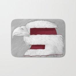 CUT ALBINO EAGLE Bath Mat