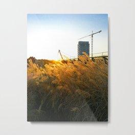 City view in spring Metal Print