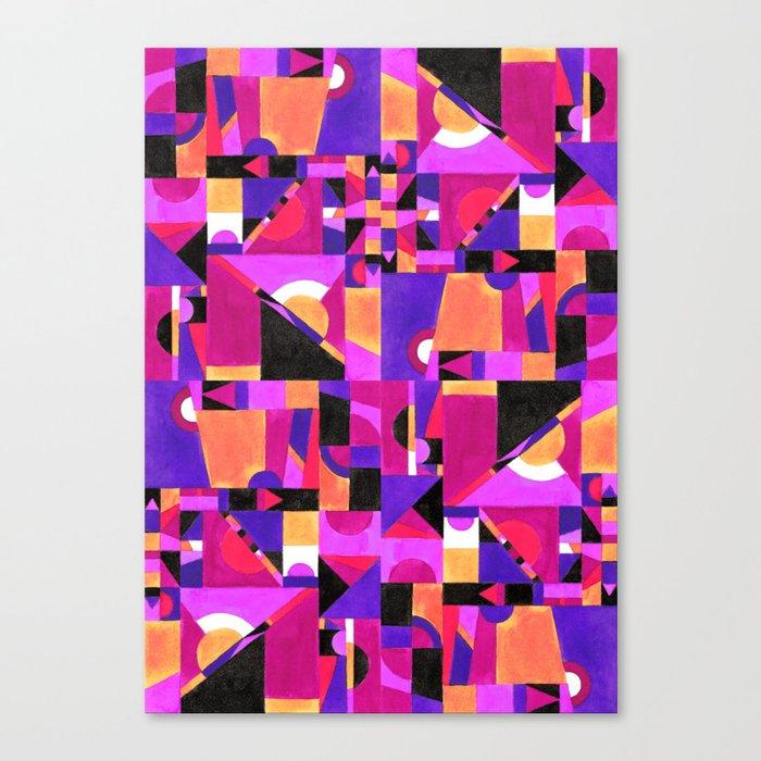Geomtropy Canvas Print