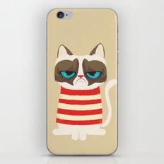 Grumpy meme cat  iPhone Skin