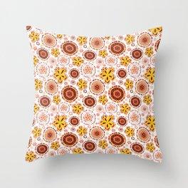 Organic Medallions -Burnt Orange Throw Pillow