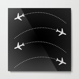 Traveling with Planes Metal Print