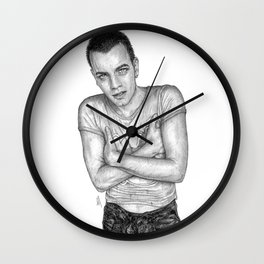Ewan McGregor Portrait Wall Clock