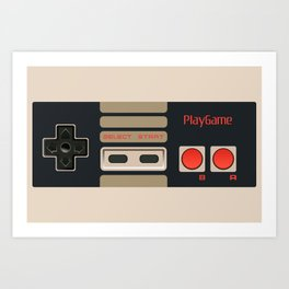Retro Gamepad Art Print