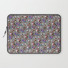 Small Print Dog Weim Nation Grey Ghost Weimaraner Hand-painted Pet Pattern on White Laptop Sleeve