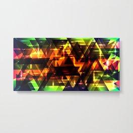 Bright shiny triangles. Metal Print