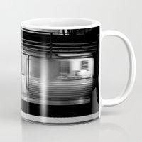 subway Mugs featuring Subway by Kameron Elisabeth