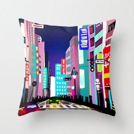 渋谷 Throw Pillow