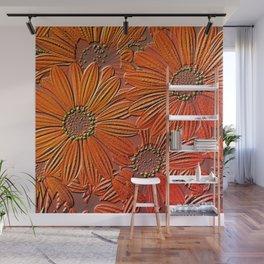 Blossoms Full Frame,engraved Wall Mural