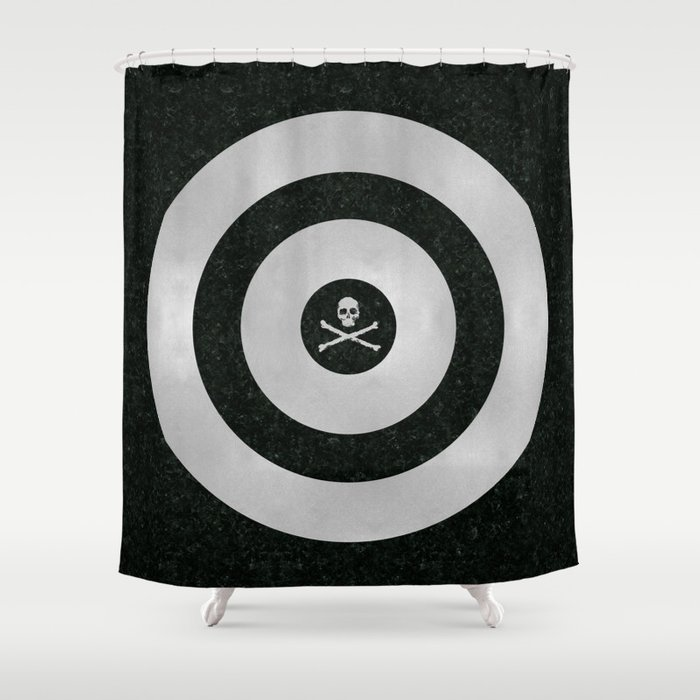 Silver Target Shower Curtain